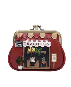Trattoria Clipper Coin Purse - Rockamilly-Bags & Purses-Vintage