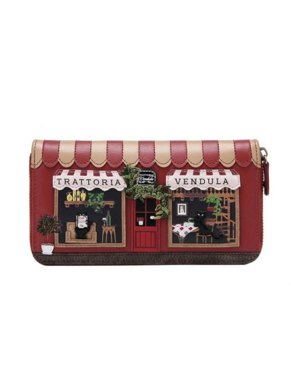 Trattoria Large Ziparound Wallet - Rockamilly-Bags & Purses-Vintage