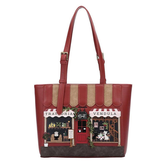 Trattoria Shopper Bag - Rockamilly-Bags & Purses-Vintage