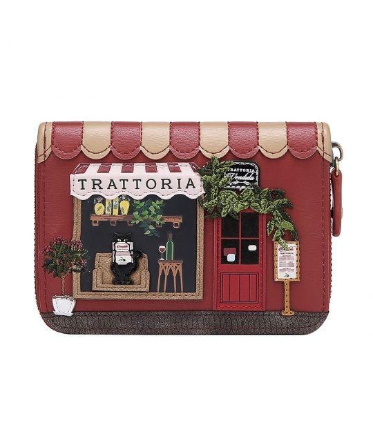 Trattoria Small Ziparound Wallet - Rockamilly-Bags & Purses-Vintage