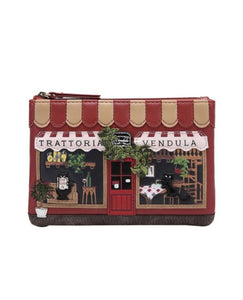 Trattoria Zipper Coin Purse - Rockamilly-Bags & Purses-Vintage