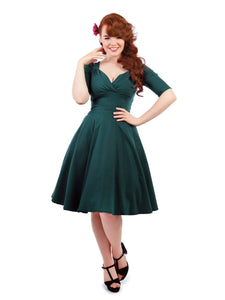 Trixie Doll Dress Teal Collectif - Rockamilly-Dresses-Vintage