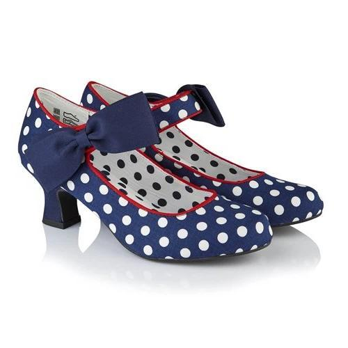 Trixie Navy Spots Ruby Shoo - Rockamilly-Shoes-Vintage