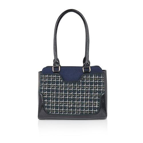 Tunis Navy Tweed Bag - Rockamilly-Bags & Purses-Vintage
