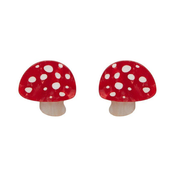 Twinning Toadstools Stud Earrings Erstwilder - Rockamilly-Jewellery-Vintage