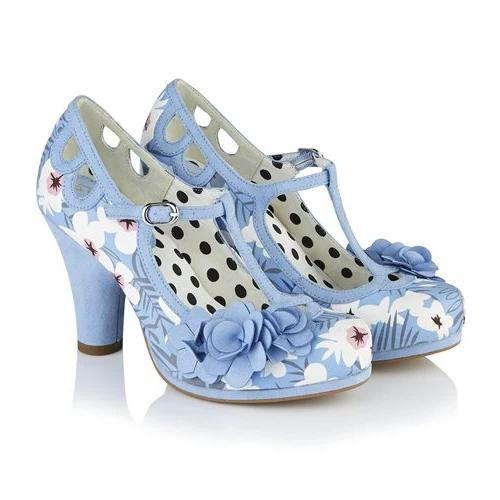 Valarie Sky Blue Ruby Shoo - Rockamilly-Shoes-Vintage