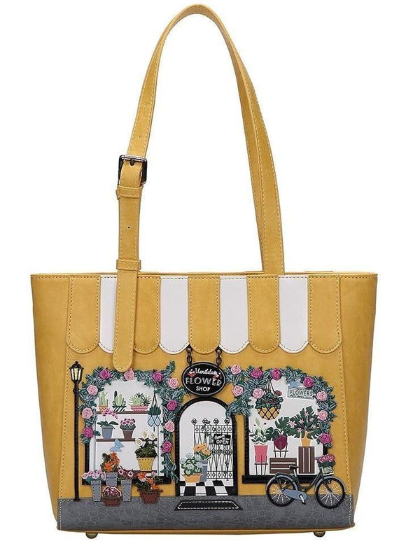 Vendula Flower Shop Shopper Bag - Rockamilly-Bags & Purses-Vintage