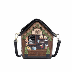 Winter Cafe Crossbody Bag Vendula - Rockamilly-Bags & Purses-Vintage