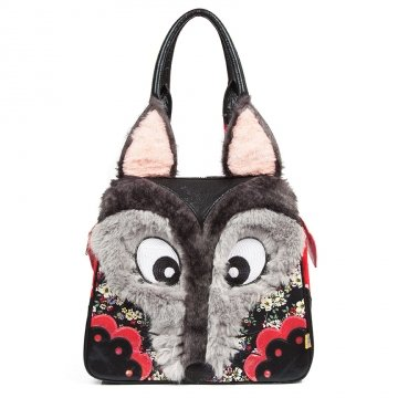 Wolf Cry Bag - Rockamilly-Bags & Purses-Vintage