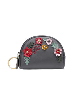 Woodland Floral Zipper Coin Purse Vendula - Rockamilly-Bags & Purses-Vintage