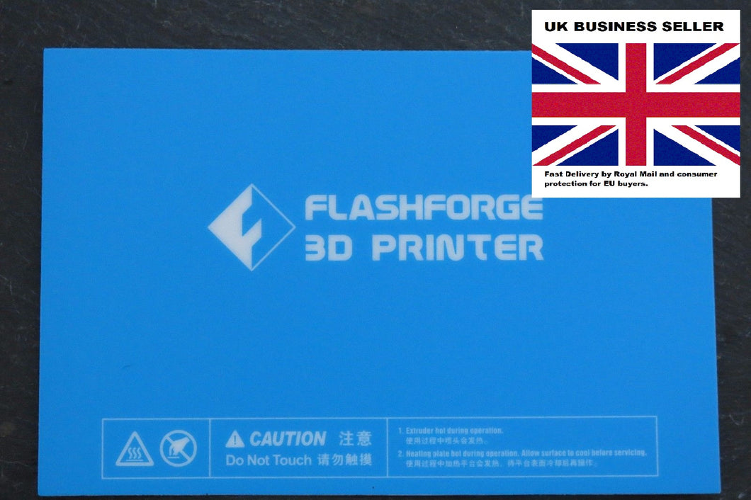 Flashforge Creator, Dreamer, Inventor, Makerbot Replicator Build Surface