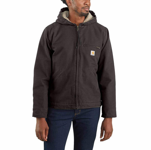 Men's CARHARTT® WASHED DUCK SHERPA LINED JACKET - 104392 Replaces J141