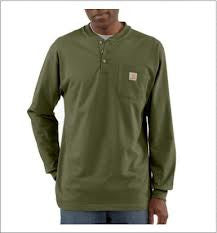 Carhartt Men's Long Sleeve Workwear Henley - K128
