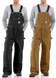 Carhartt - Men's Duck Zip-to-Thigh Bib Overall/Quilt Lined - R41