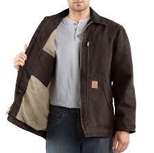 Carhartt - Men's Sandstone Ridge Coat/Sherpa-Lined - C61