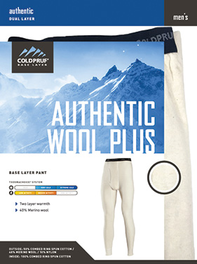ColdPruf - Men's Authentic Wool Plus Pant Bottom - 92F