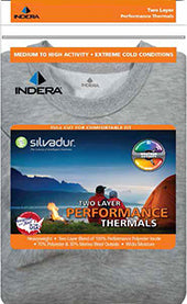 Indera Mills - Men's Two-Layer Performance Thermal with Silvadur™ Top - 975LS