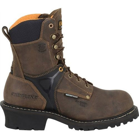 Carolina Men's 8 in. Timber Waterproof Composite Toe Logger Boot CA6921