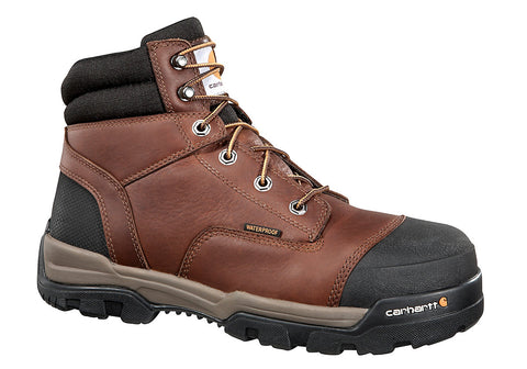 Carhartt - MEN'S 6 INCH BROWN GROUND FORCE COMP TOE WORK BOOT - CME6355