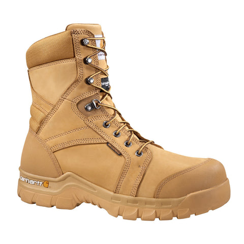 Carhartt 8-INCH WHEAT RUGGED FLEX® INSULATED WORK BOOT - CMF8358