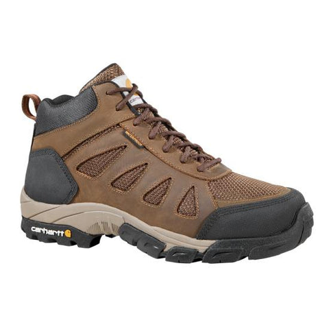 Carhartt - Men's Lightweight Brown Waterproof Safety Toe Work Hiker - CMH4480