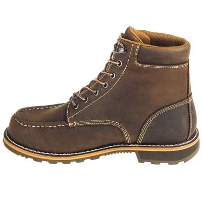 b7bc02e7f74 Carhartt Boots: Men's Brown Waterproof 6-Inch General Toe Work Boots CMW6197