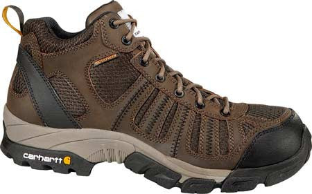 Carhartt Men's Lightweight Brown/Brown Composite Toe Waterproof Work Hiker - CMH4370