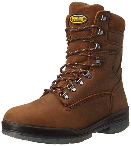 "Wolverine Boot - W03238 (Gum) DuraShocks Waterproof Insulated 8"" Boot"