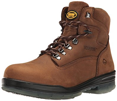 "Wolverine Boot - W03226 (Gum) DuraShocks Waterproof Insulated 6"" Boot"