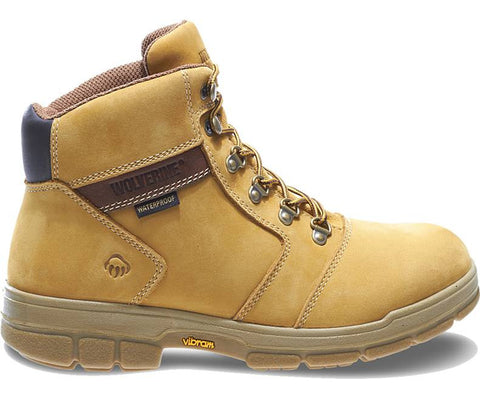 "Wolverine Boot - W04105 Barkley (Formerly Turner): DuraShocks® Insulated Waterproof 6"" Work Boot - Gold Nubuck"