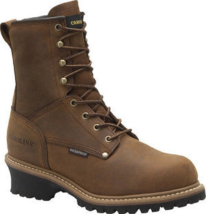 "Carolina - 8"" Waterproof Insulated Logger Work Boot - CA4821"