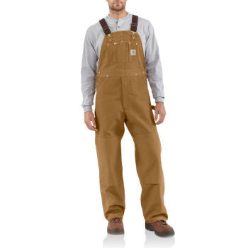 Carhartt Style # R01: Brown Men's Duck Bib Overall/Unlined