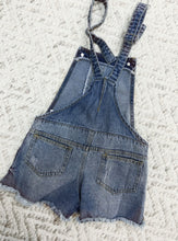 SOLID 10 distressed overalls
