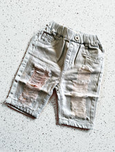 Young king distressed denim shorts