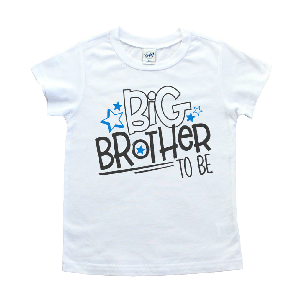 White shirt with Big Brother to be in Black with blue stars