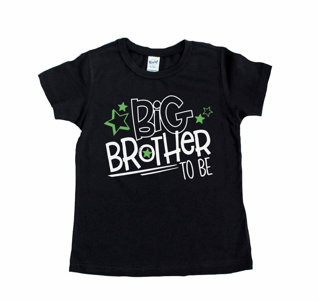 Black tee with Big Brother to be in white and green