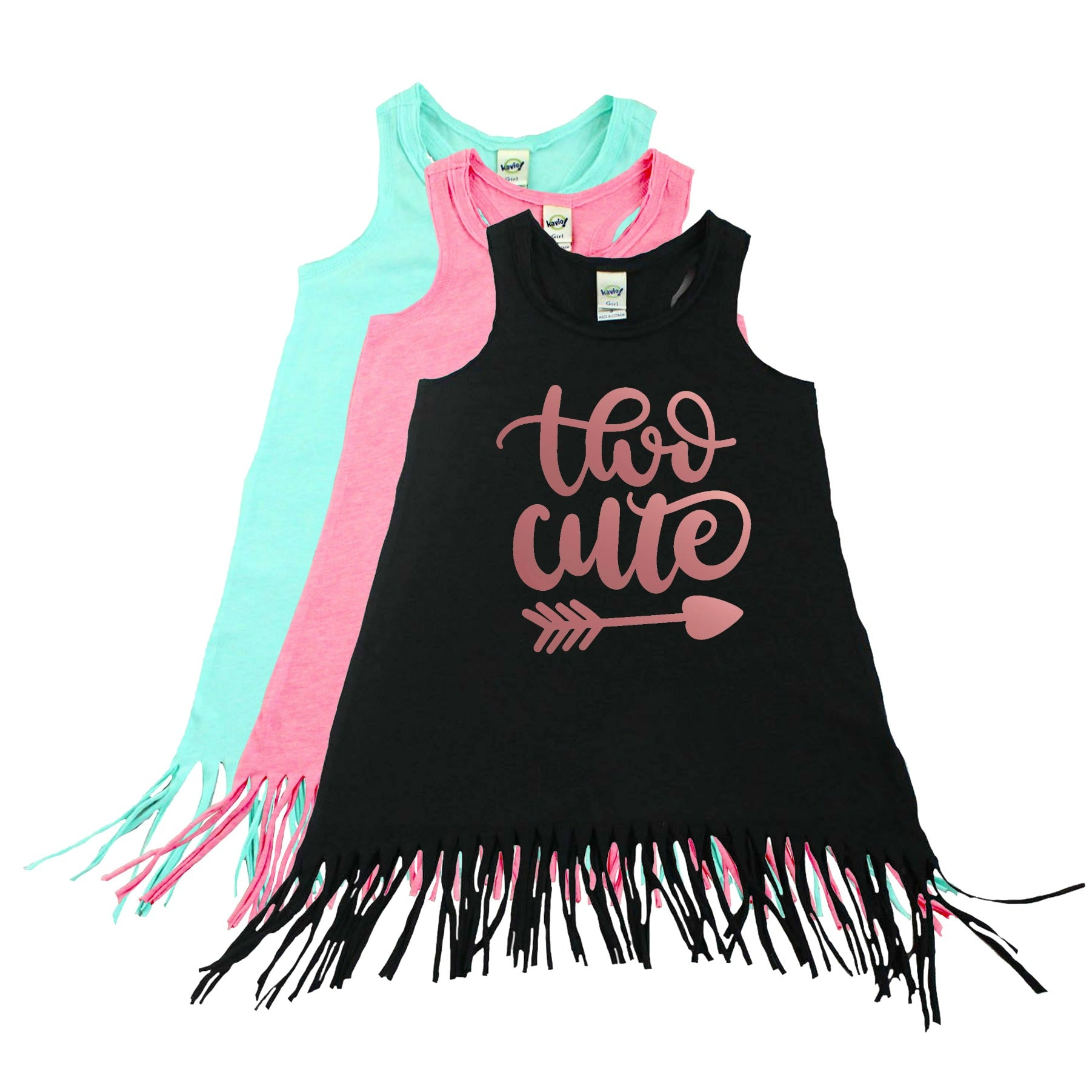 652a0bc00 Girl s Two Cute Second Birthday Fringe Dress