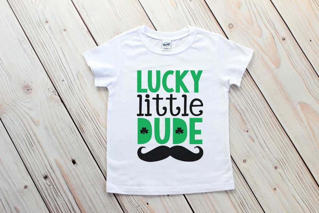 Boy St Patricks Day Shirt - Toddler St Patrick's Day - Lucky Little Dude Tee - Shamrock Shirt - Saint Patricks Day Tee - St. Patricks Outfit