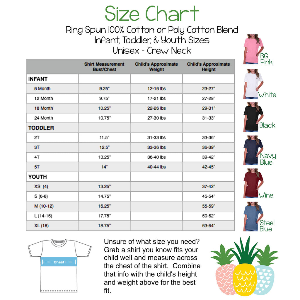Children's size chart