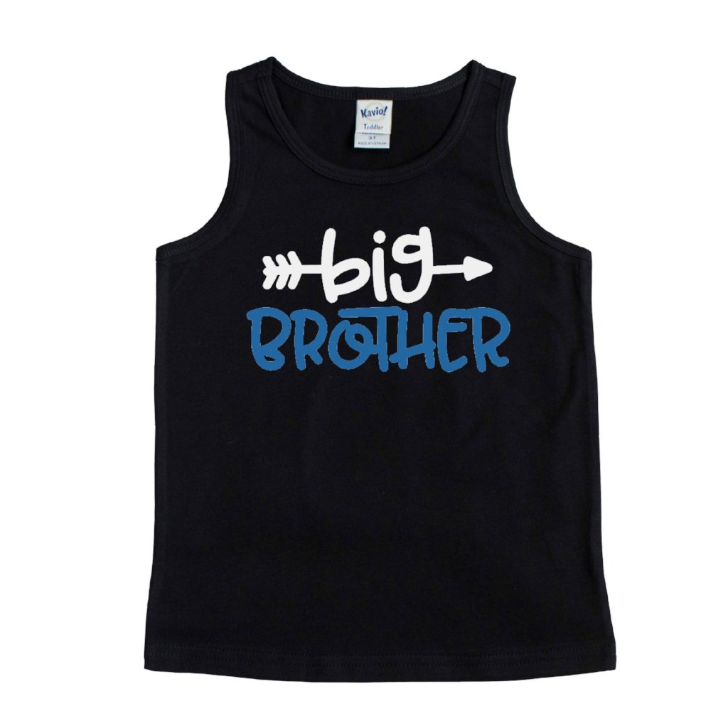 Black tank top with Big Brother in white and blue
