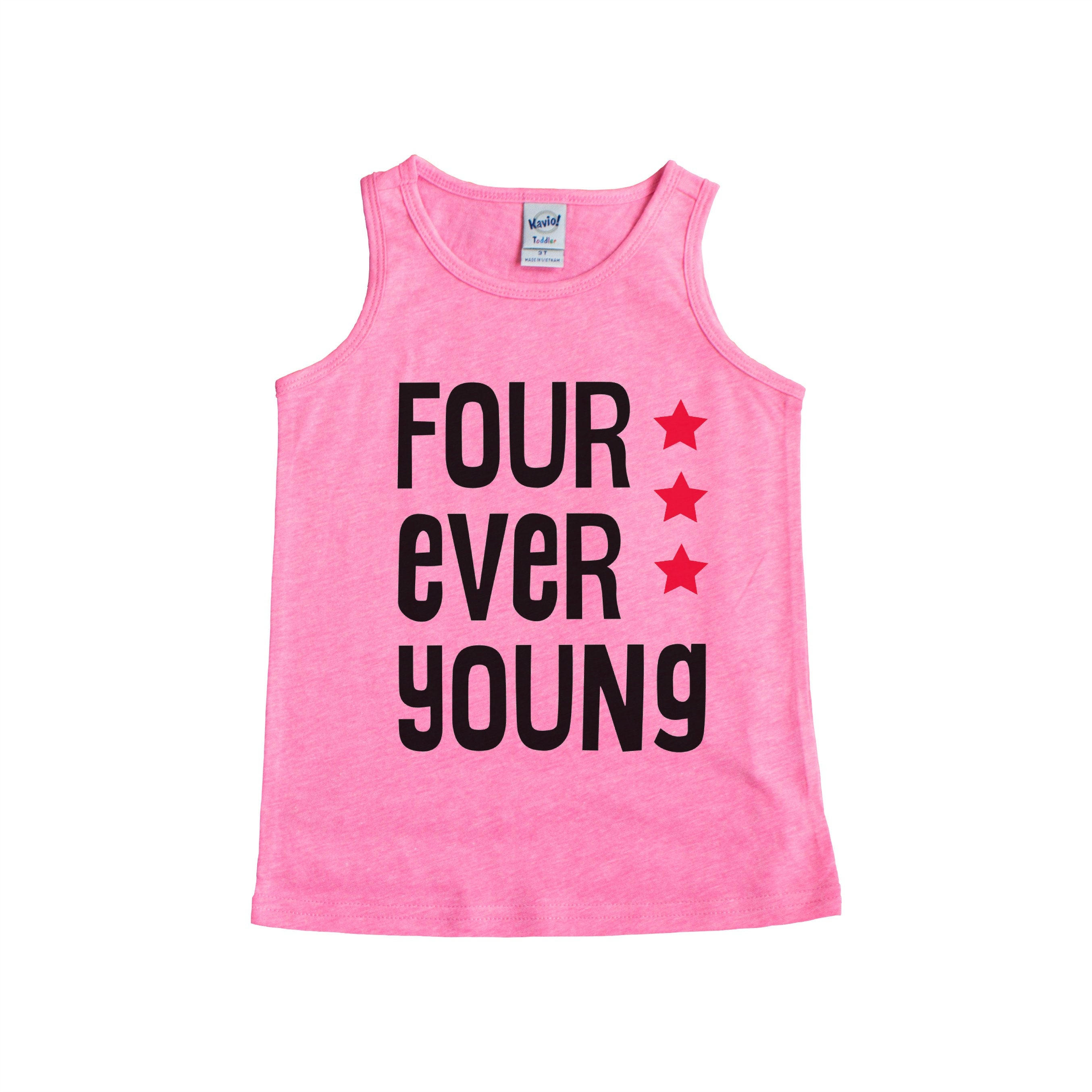 Four Ever Young Birthday Tank For Year Old