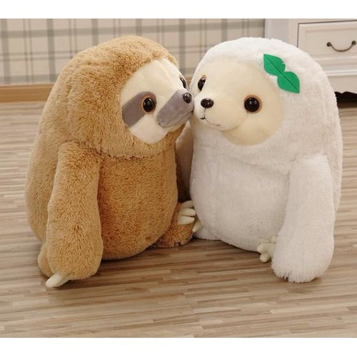Brown or White Plush Baby Sloth 20