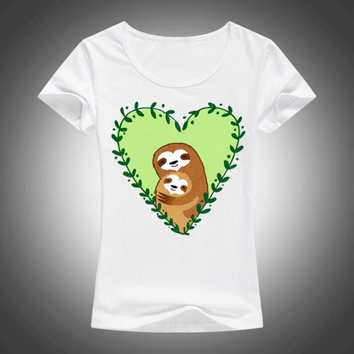 T-Shirt Cute Family Sloth