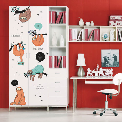 Fun Decor Huge Sloth Wall Sticker