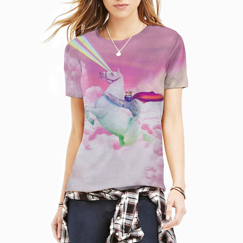 T-Shirt Sloth on a Unicorn