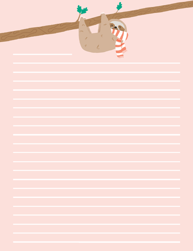 Printable Letter paper stationery | instant download | A4 and letter size
