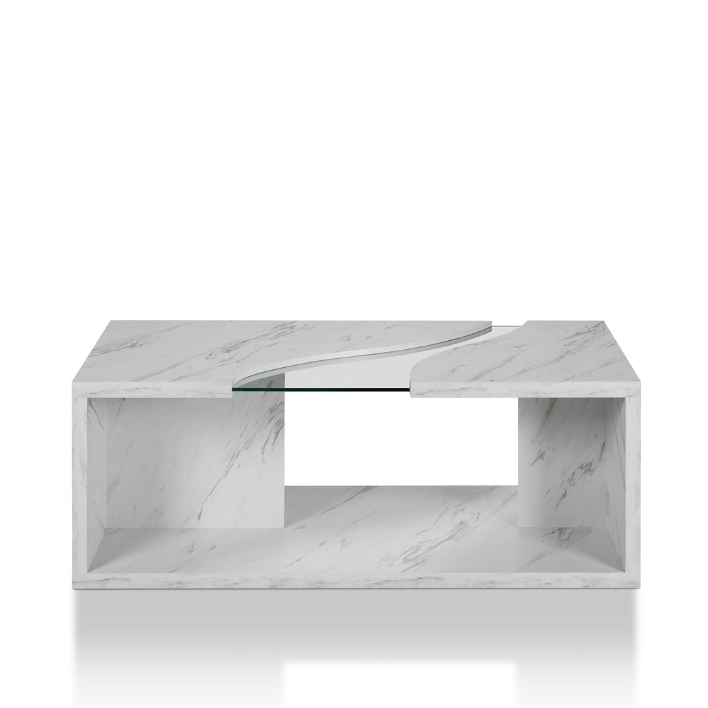 Remarkable Furniture Of America Kansai Modern Faux Marble Coffee Table Ncnpc Chair Design For Home Ncnpcorg
