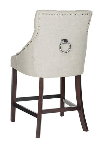Eleni Tufted White Light Grey Back Counter Stool - Cool Stuff & Accessories