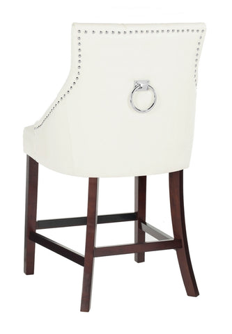 Eleni Tufted White Wing Back Counter Stool - Cool Stuff & Accessories