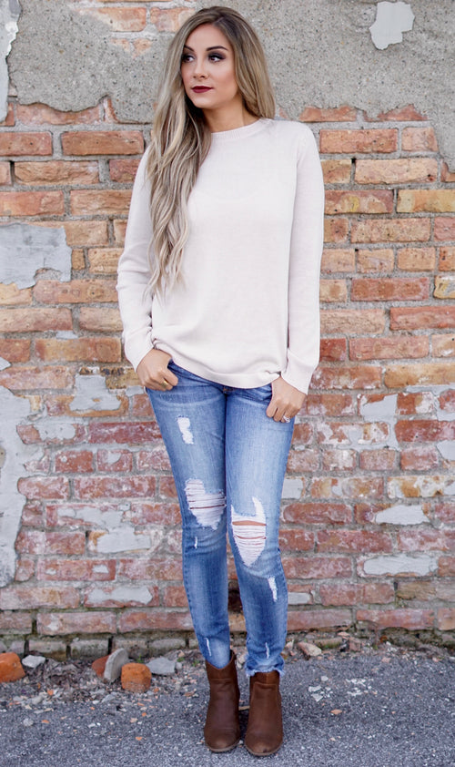 Beige Pullover Sweater